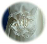 Italian Silk Christening Gown Cuff