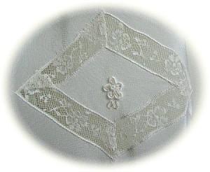 Italian Silk Christening Gown Skirt Detail