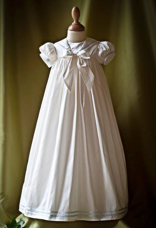 """Raphael"" silk christening gown"