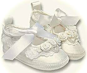 Christening shoes for a baby girl