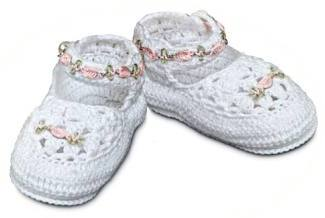 Crochet cotton baby shoes