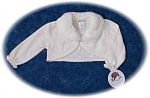 Toddler's cardigan with Fur Collar