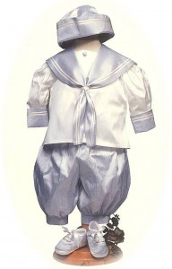 baby's silk sailor suit