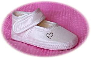 Baby girls' soft sole christening shoes