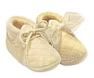 velvet baby booties